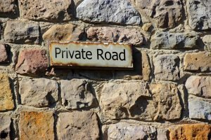 Insuring my private road